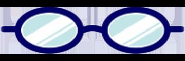 メガネ:オーバル型
